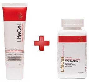 lifecell cream collagen combo