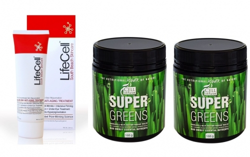 LifeCell Cream and Super Greens