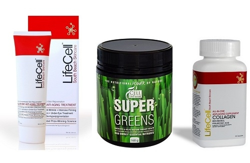 LifeCell Cream plus Super Greens plus Collagen