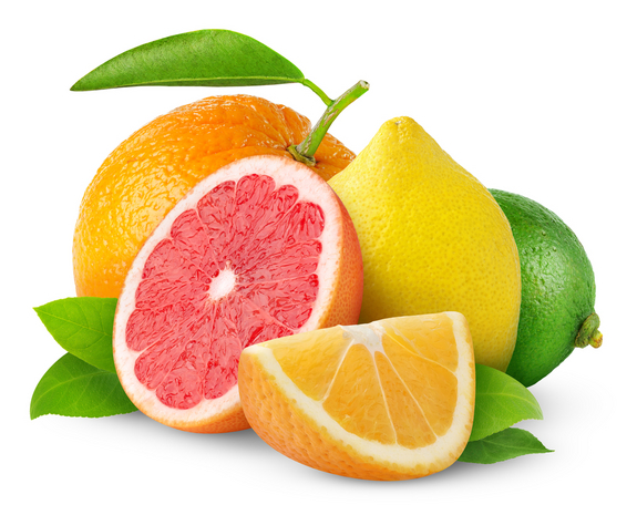 citrus fruits containing Vitamin C