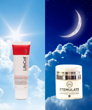 anti-aging products for day and night