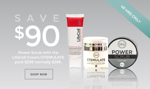 special offer on power scrub for aging skin