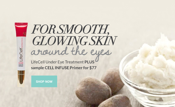 smooth glowing skin around the eyes